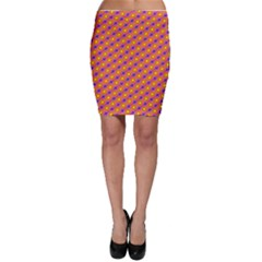 Vibrant Retro Diamond Pattern Bodycon Skirt