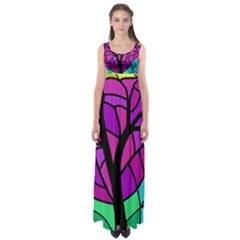 Decorative Tree 2 Empire Waist Maxi Dress
