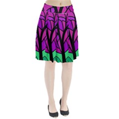 Decorative tree 2 Pleated Skirt