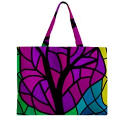 Decorative tree 2 Medium Zipper Tote Bag