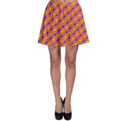 Vibrant Retro Diamond Pattern Skater Skirt
