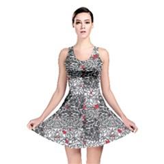 Sribble Plaid Reversible Skater Dress