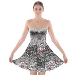 Sribble Plaid Strapless Bra Top Dress