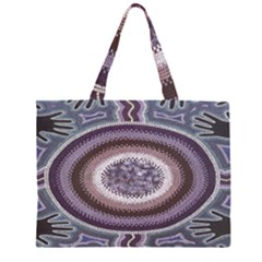 Spirit Of The Child Australian Aboriginal Art Large Tote Bag