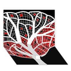 Decorative tree 3 Heart Bottom 3D Greeting Card (7x5)