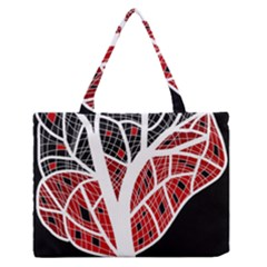 Decorative tree 3 Medium Zipper Tote Bag