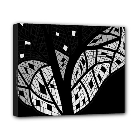 Black and white tree Canvas 10  x 8