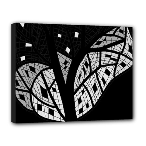 Black and white tree Canvas 14  x 11