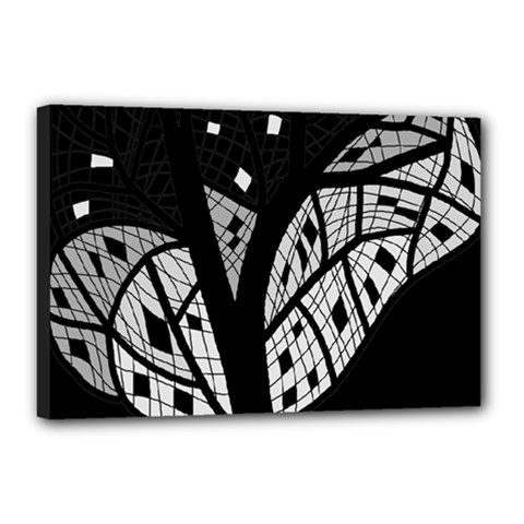 Black and white tree Canvas 18  x 12
