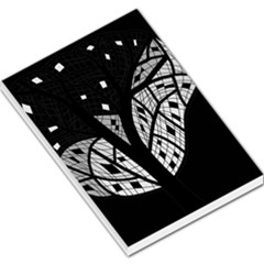 Black and white tree Large Memo Pads