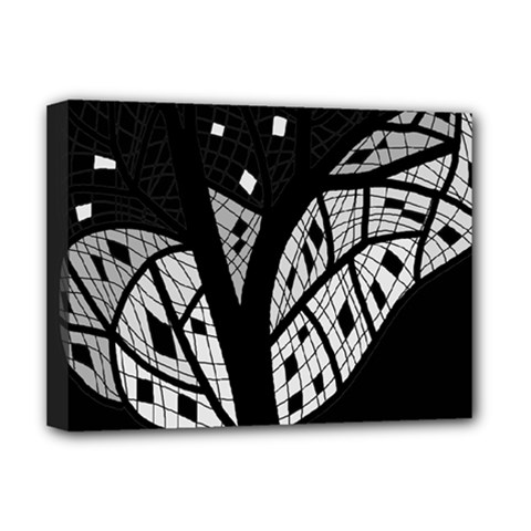 Black and white tree Deluxe Canvas 16  x 12