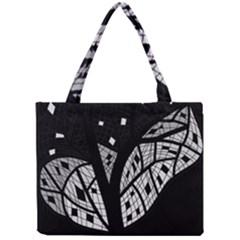 Black and white tree Mini Tote Bag