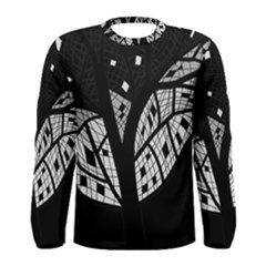 Black and white tree Men s Long Sleeve Tee