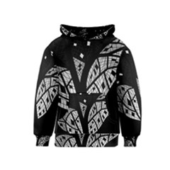 Black and white tree Kids  Pullover Hoodie