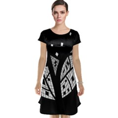 Black and white tree Cap Sleeve Nightdress