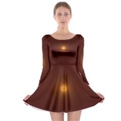 Spiral Vintage Long Sleeve Skater Dress