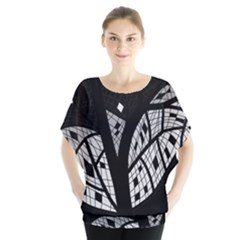 Black And White Tree Blouse