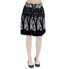 Black And White Tree Pleated Skirt