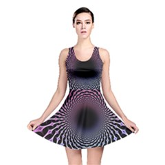 Spider Web Reversible Skater Dress