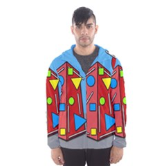 Crazy building Hooded Wind Breaker (Men)
