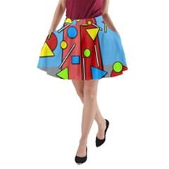 Crazy building A-Line Pocket Skirt