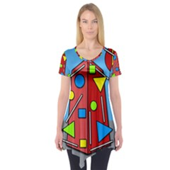 Crazy building Short Sleeve Tunic