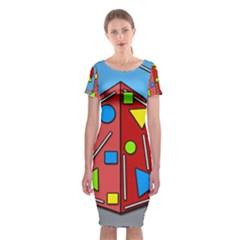 Crazy building Classic Short Sleeve Midi Dress