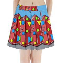 Crazy building Pleated Mini Skirt