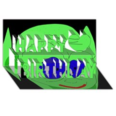 Alien by Moma Happy Birthday 3D Greeting Card (8x4)