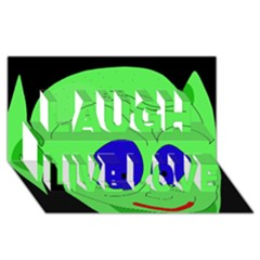 Alien by Moma Laugh Live Love 3D Greeting Card (8x4)