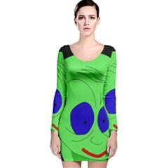 Alien by Moma Long Sleeve Velvet Bodycon Dress