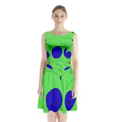 Alien By Moma Sleeveless Chiffon Waist Tie Dress