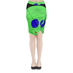 Alien by Moma Midi Wrap Pencil Skirt