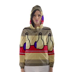 Decorative art Hooded Wind Breaker (Women)