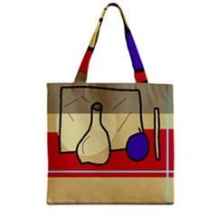 Decorative art Zipper Grocery Tote Bag