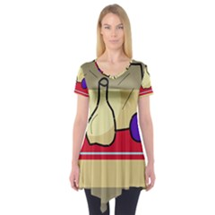 Decorative Art Short Sleeve Tunic
