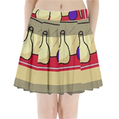 Decorative art Pleated Mini Skirt