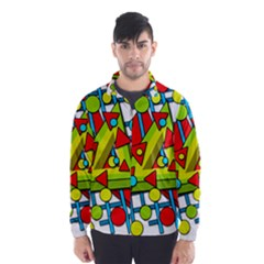 Crazy geometric art Wind Breaker (Men)