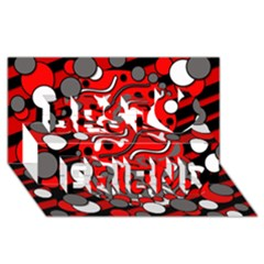 Red mess Best Friends 3D Greeting Card (8x4)