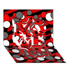 Red mess LOVE 3D Greeting Card (7x5)