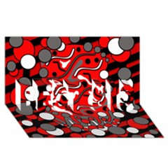 Red mess BEST SIS 3D Greeting Card (8x4)