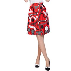 Red mess A-Line Skirt