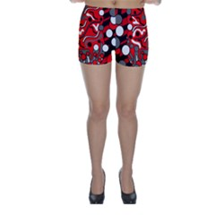 Red mess Skinny Shorts