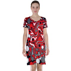 Red mess Short Sleeve Nightdress