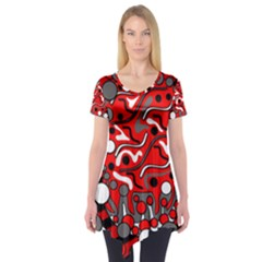 Red mess Short Sleeve Tunic