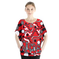 Red mess Blouse