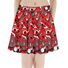 Red mess Pleated Mini Skirt