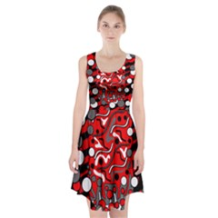 Red mess Racerback Midi Dress