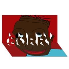 Happy boy SORRY 3D Greeting Card (8x4)