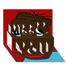 Happy boy Miss You 3D Greeting Card (7x5)